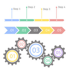 progress statistic concept infographic vector image vector image