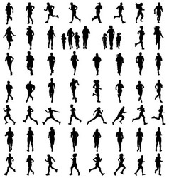 silhouettes of running vector image