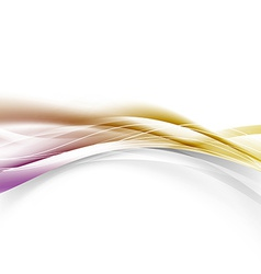 Abstract golden border modern swoosh wave layout vector image vector image