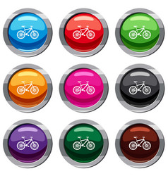 bike set 9 collection vector image
