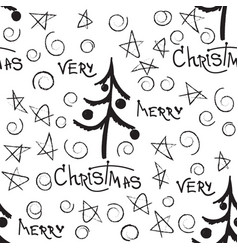 christmas decorative doodle seamless vector image