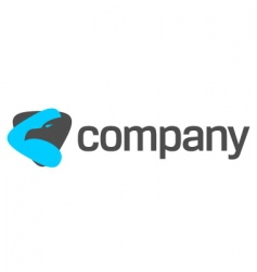 eagle logo for strong company vector image