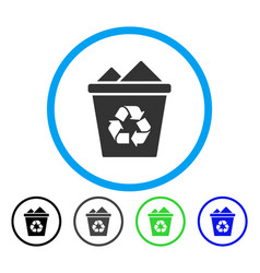 full recycle bin rounded icon vector image