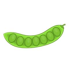 Green pea pod icon cartoon style vector image vector image