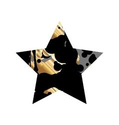 Grunge Black And GoldStar vector image vector image