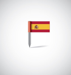 spain flag pin vector image vector image