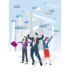 Successful Executives Jumping vector image vector image