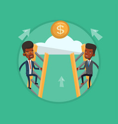 Two businessman climbing to success vector