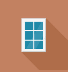 window with white frame vector image