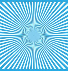 blue-white color burst background of light rays vector image