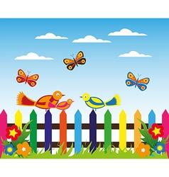 Cartoon landscape design vector image