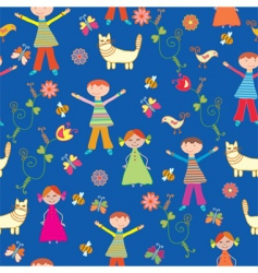 children's wallpaper pattern vector image