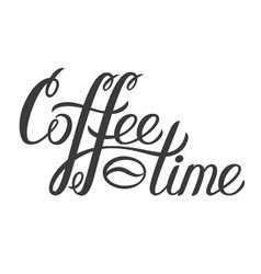 Hand drawn lettering Coffee time Coffee time vector image vector image