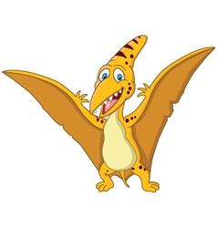 Happy pterodaytyl cartoon vector image