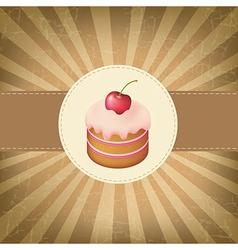 Retro Label With Cupcake vector image