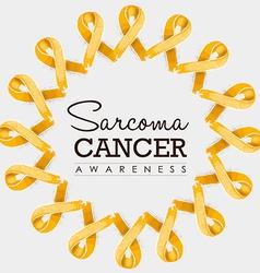 Sarcoma cancer awareness ribbon design with text vector image