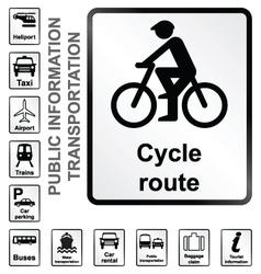 Transport Information Signs vector image vector image