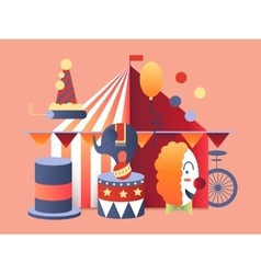 Circus tent design vector image