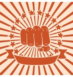 Fist comic poster vector image