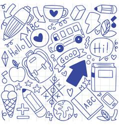 01-09-003 hand drawn set school icons vector