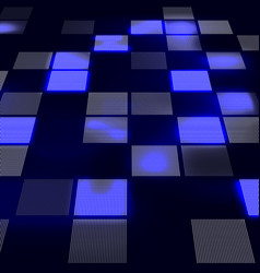 Abstract hi-tech blue background in perspective vector