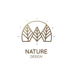 Abstract minimal logo landscape vector