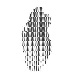 Abstract qatar country silhouette of wavy black vector