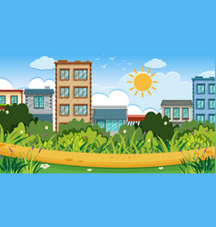 an outdoor scene with park vector image