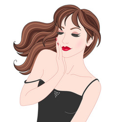beauty brunette girl vector image