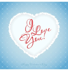 Blue Valentines Day Greeting Card with Pattern vector
