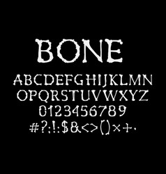 bones font halloween abc type uppercase alphabet vector image