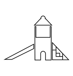 Childrens slide house icon outline style vector image