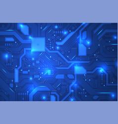 circuit board industrial electronics digital vector image