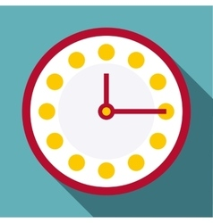 Clock icon flat style vector