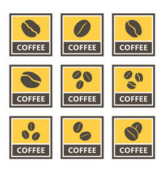 coffee icons and signs set for cafes and shops vector image