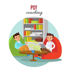 Colorful psychological training concept vector