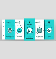 compost ground soil onboarding icons set vector image