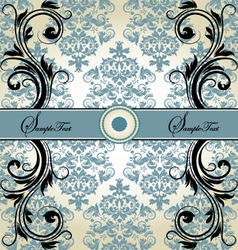 damask card vector image