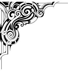 Decorative corner ornament vector