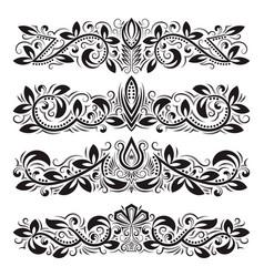 Design ornamental elements vintage headline vector