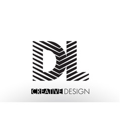 Dl d l lines letter design with creative elegant vector