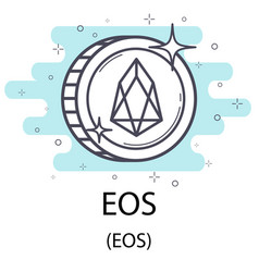 Eos outline coin vector