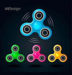 fidget spinner icons vector image