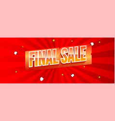 Final sale vintage text on red banner vector