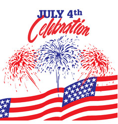 Fireworks background for 4th july independence vector