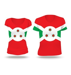 Flag shirt design of Burundi vector image