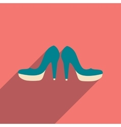 Flat web icon with long shadow women shoes vector