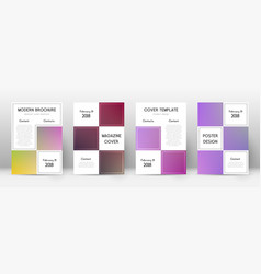 Flyer layout business neat template for brochure vector