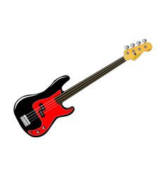 Fretless bass guitar vector