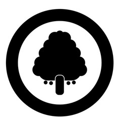 Fruit tree icon black color in circle vector